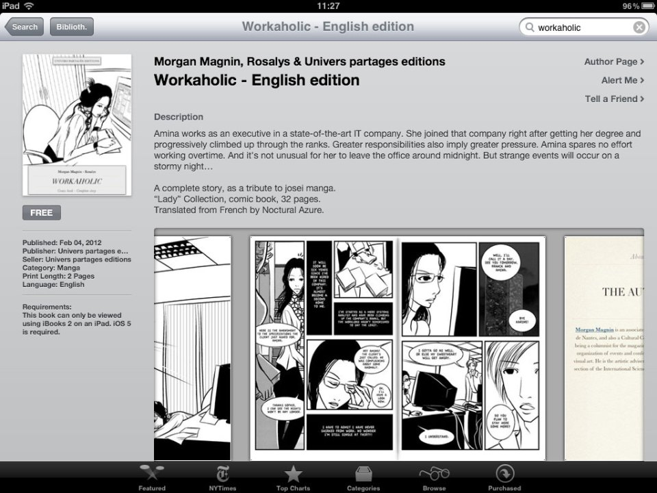 Workaholic English edition - on iPad - in iBookstore