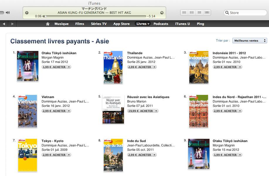 """Otaku Tōkyō isshūkan"", Top 1 best seller Asie sur iBookStore"