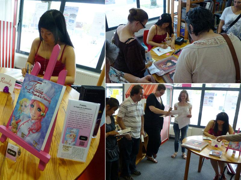 Dédicaces Rosalys à la Bibliothèque Emilienne Leroux : 27 Jun 2012