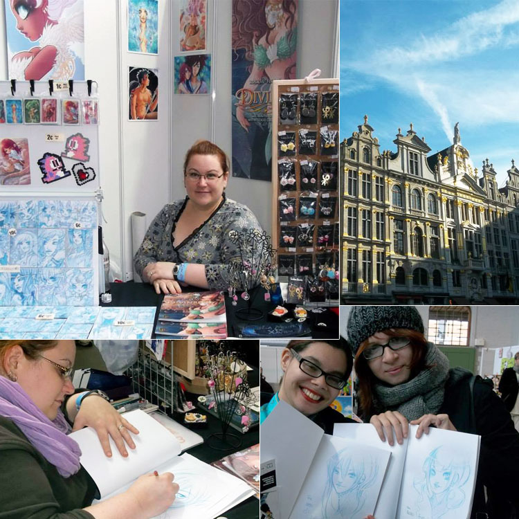 """Dédicaces de Divines au festival """"Japan expo Belgium"""" (Bruxelles, BELGIQUE) : 01-03 Nov 2013"""
