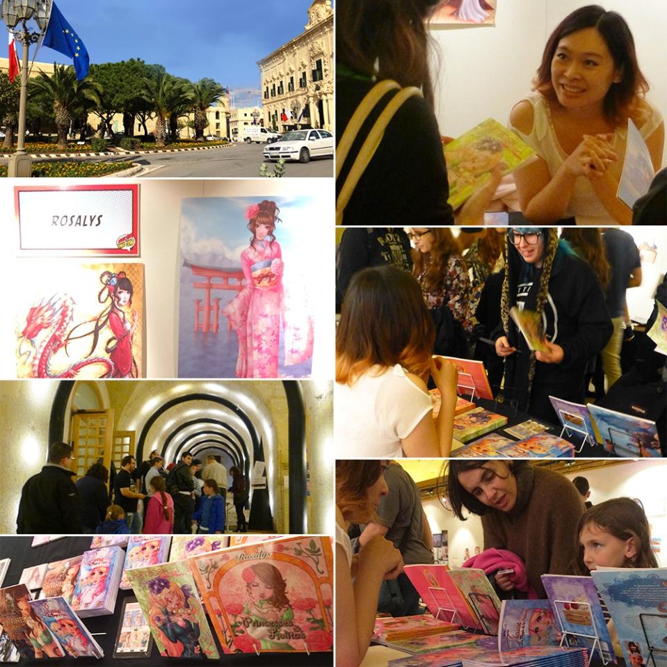 """Dédicaces de Rosalys à """"Malta Comic Con"""" (La Valette, MALTE) : 30 Nov-01 Dec 2013"""