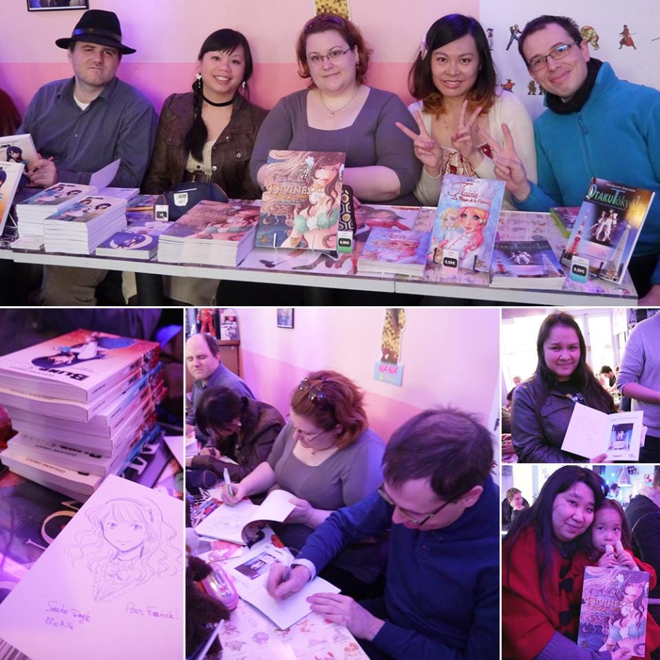 Dédicaces des auteurs UP éditions au Kawaii café (Paris, FRANCE) : 22 Mar 2014