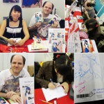 Signings Guillaume Lebigot & Saeko Doyle at Japan expo (Paris/Villepinte, FRANCE):  Jui 4-6, 2014