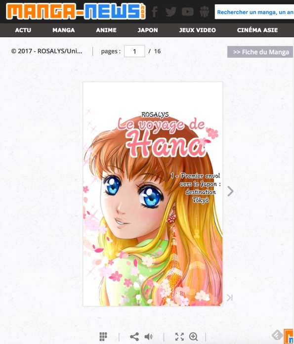 le voyage de hana tome 1 - presse manganews 3 preview